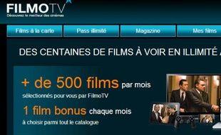 FilmoTV, plateforme française de VOD/SVOD lancée en 2008.