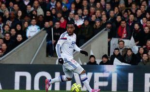Alexandre Lacazette lors du match entre Nantes et Lyon le 22 février 2015.