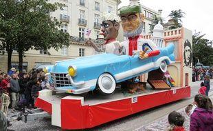 Le char «Cuba Fidel à l'américaine!» au carnaval de Nantes 2016.