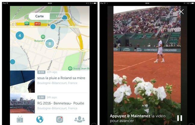 «Il pleut sa mère», à droite, et un angle de vue inédit sur le match de Benoît Paire, dimanche 22 mai.