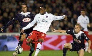 L'attaquant parisien, Jean-Eudes Maurice, le 5 décembre 2009.