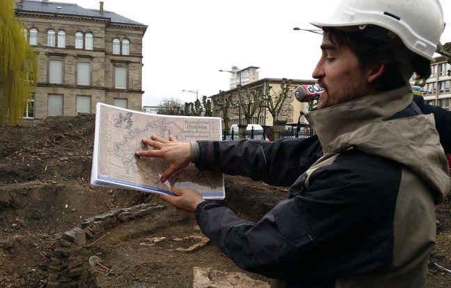 Découverte impressionnante sur le chantier de fouilles de l'université de Strasbourg.