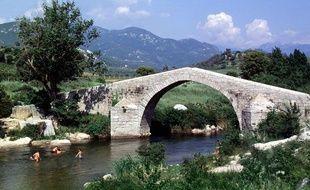 La rivière Rizzanese, en Corse, en 2006.