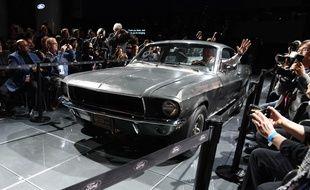 La Ford Mustang de Steve McQueen dans le film « Bullitt », le 14 janvier 2018 à Detroit.