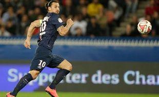 Zlatan Ibrahimovic, l'attaquant du PSG, le 21 septembre 2014, au Parc des Princes.