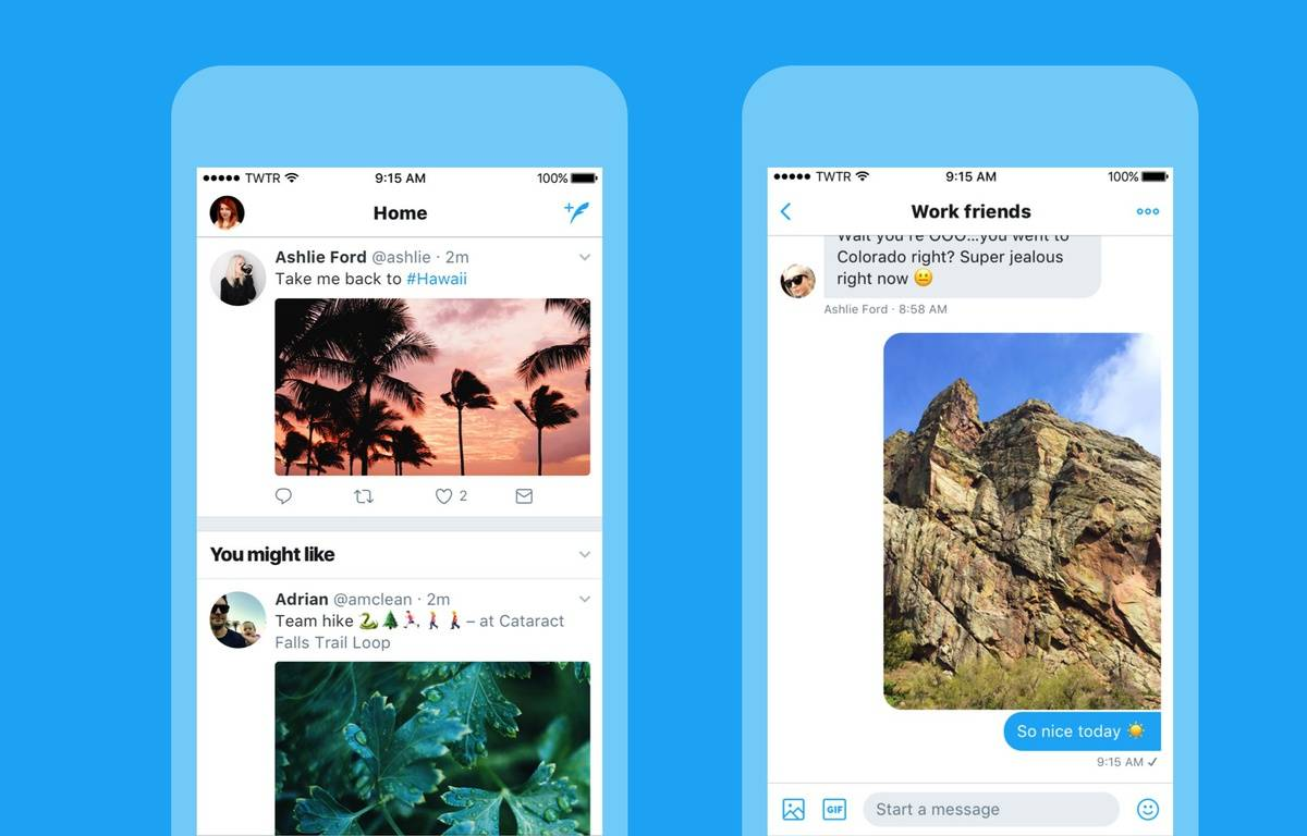 Le nouveau look de Twitter lancé le 15 juin 2017. – TWITTER