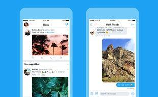 Le nouveau look de Twitter lancé le 15 juin 2017.