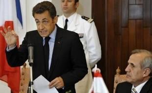 Le président français Nicolas Sarkozy, en visite samedi à Beyrouth, a appelé les Libanais à la réconciliation et au dialogue après une longue crise politique qui a dégénéré en combats meurtriers.