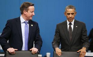 Barack Obama et David Cameron au sommet du G20 à Brisbane en Australie, le 15 novembre 2015.