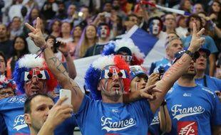 Des supporters français lors du mondial 2015 de hand au Qatar