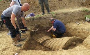 Des vestiges de la Première Guerre mondiale ont été découverts lors d'opérations de fouilles archéologiques visant à retrouver les premiers chars de combat.