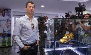 Cristiano Ronaldo lors de l'inauguration de son musée à Madère le 15 décembre 2013.