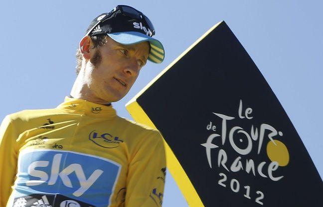 Bradley Wiggins le jour de sa victoire sur le Tour de France, le 22 juillet 2012.