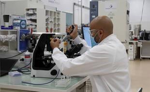 Le laboratoire pharmaceutique britannique AstraZeneca, illustration.