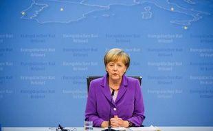 La chancelière allemande Angela Merkel à Bruxelles,le 27 juin 2014