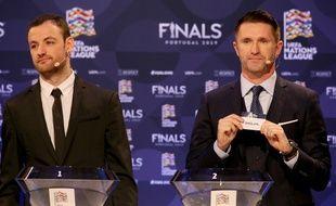 Le tirage au sort des demi-finales de la première édition de la Ligue des nations, le 3 décembre 2018.
