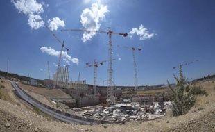 Le chantier du réacteur de fusion nucléaire Iter , le 18 mai 2015 à Saint-Paul-les-Durance dans le sud de la France