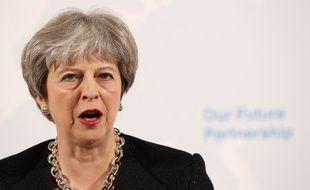 Theresa May lors d'un discours sur le Brexit, le 2 mars 2018.