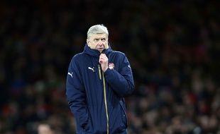 Arsène Wenger lors de Arsenal-Swansea le 2 mars 2016.