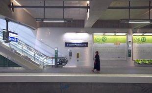 Une station de la RATP à Paris, le 28 décembre 2012