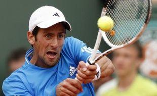 Le tennisman serbe Novak Djokovic, lors de son 3e tour à Roland-Garros, perdu face à Philipp Kohlschreiber le 30 mai 2009.