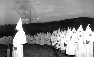 Le Ku Klux Klan aux Etats-Unis. Illustration