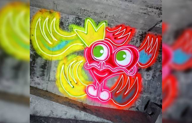 Une œuvre du graffeur lillois m.kœur.