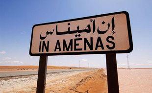 Panneau indicateur près du site gazier d'In Amenas, dans l'est de l'Algérie.
