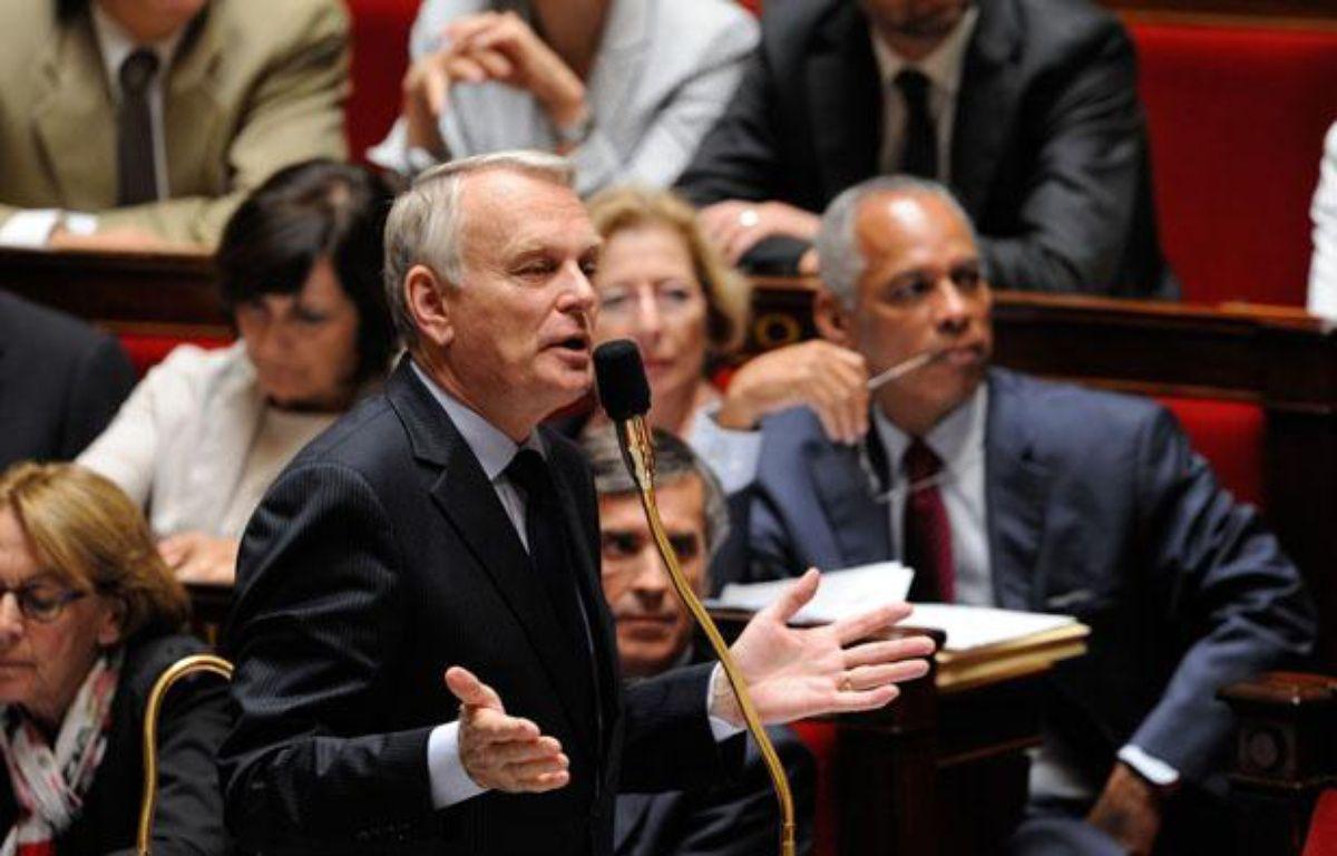 Le Premier ministre Jean-Marc Ayrault à l'Assemblée nationale. – WITT/SIPA