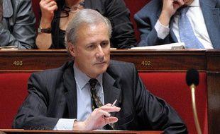 Le secrétaire d'Etat chargé de la Fonction publique, Georges Tron, le 30 mars 2010 à l'Assemblée nationale.
