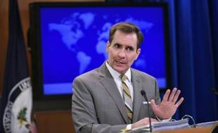 Le porte-parole du Département d'Etat américain John Kirby le 6 janvier 2015 à Washington