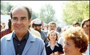 Georges et Liliane Marchais, à la Fête de l'Humanité le 11 septembre 1982.