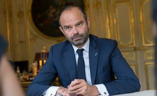 Edouard Philippe, dans son bureau à Matignon, le 14 juin 2018, lors d'une interview avec «20 Minutes».