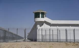 A Hotan, l'un des camps suspecté d'emprisonner les musulmans de la minorité Ouigoure en Chine, le 31 mai 2019.