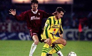 Nicolas Ouédec, en 1995 avec Nantes face à Metz