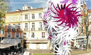 Cette année, les couleurs des décorations de Noël seront à dominante rose et blanc.