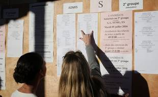 Illustration de résultat du Bac.  / AFP PHOTO / RICHARD BOUHET