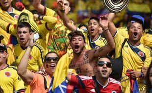 Les supporters de la Colombie lors du match contre la Grèce, le 14 juin 2014, à Belo Horizonte.