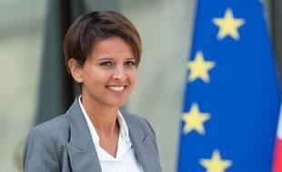Najat Vallaud-Belkacem,  nouvelle ministre de l'Education nationale et première femme à occuper ce poste.