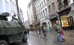 Bruxelles, sous haute sécurité, e 22 novembre 2015.  ALAY SARAH/SIPA