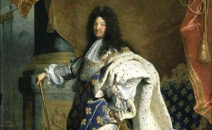 Louis XIV en 1701 par  Hyacinthe Rigaud (Musée du Louvre)