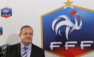 Le président de la fédération française de football, Fernand Duchaussoy, le 23 juillet 2010 à Paris.