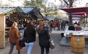 Le 9 décembre 2014, le marché de Noël de Bordeaux.
