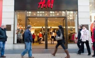 Une boutique H&M.