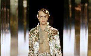 L'actrice et mannequin Cara Delevingne au défilé Fendi Haute Couture P/E 2021