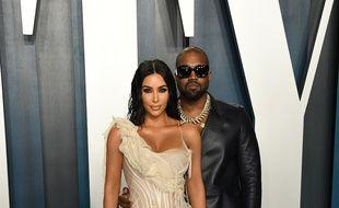 Les époux Kim Kardashian et Kanye West