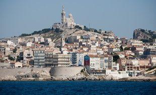 Marseille, vue de la mer