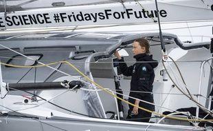 Greta Thunberg arrive à New York sur son voilier après 15 jours de traversée