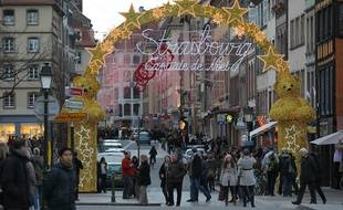 Strasbourg le 25 11 2012.  Marché de Noël de Strasbourg