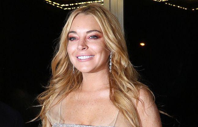 Lindsay Lohan lors de l'ouverture de sa boîte de nuit à Athènes